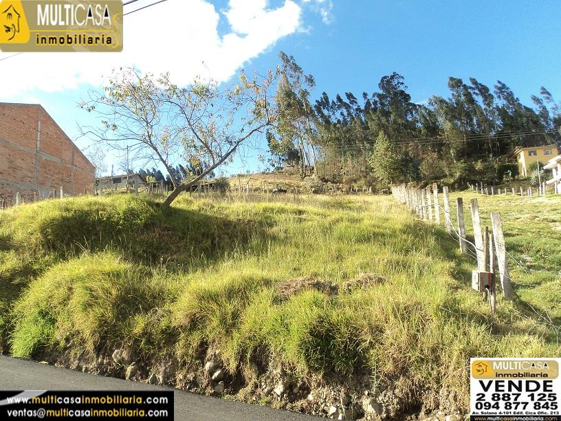 Venta de Terreno a crédito sector Camino Viejo a Baños Cuenca - Ecuador