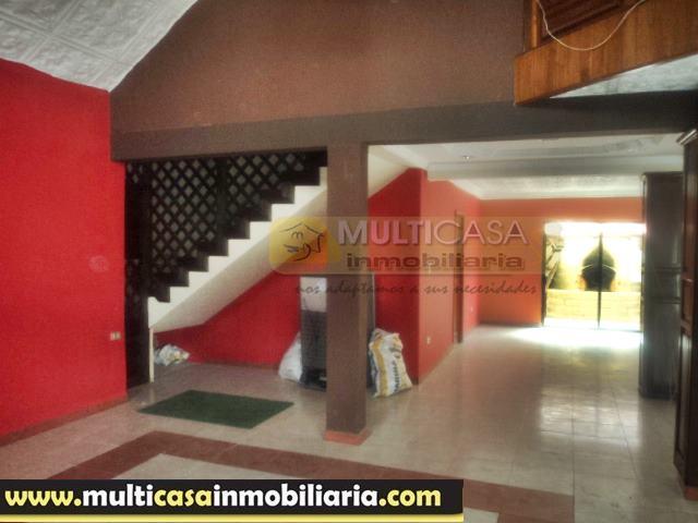 Casa en Venta a Crédito con Local Comercial sector Misicata Cuenca - Ecuador