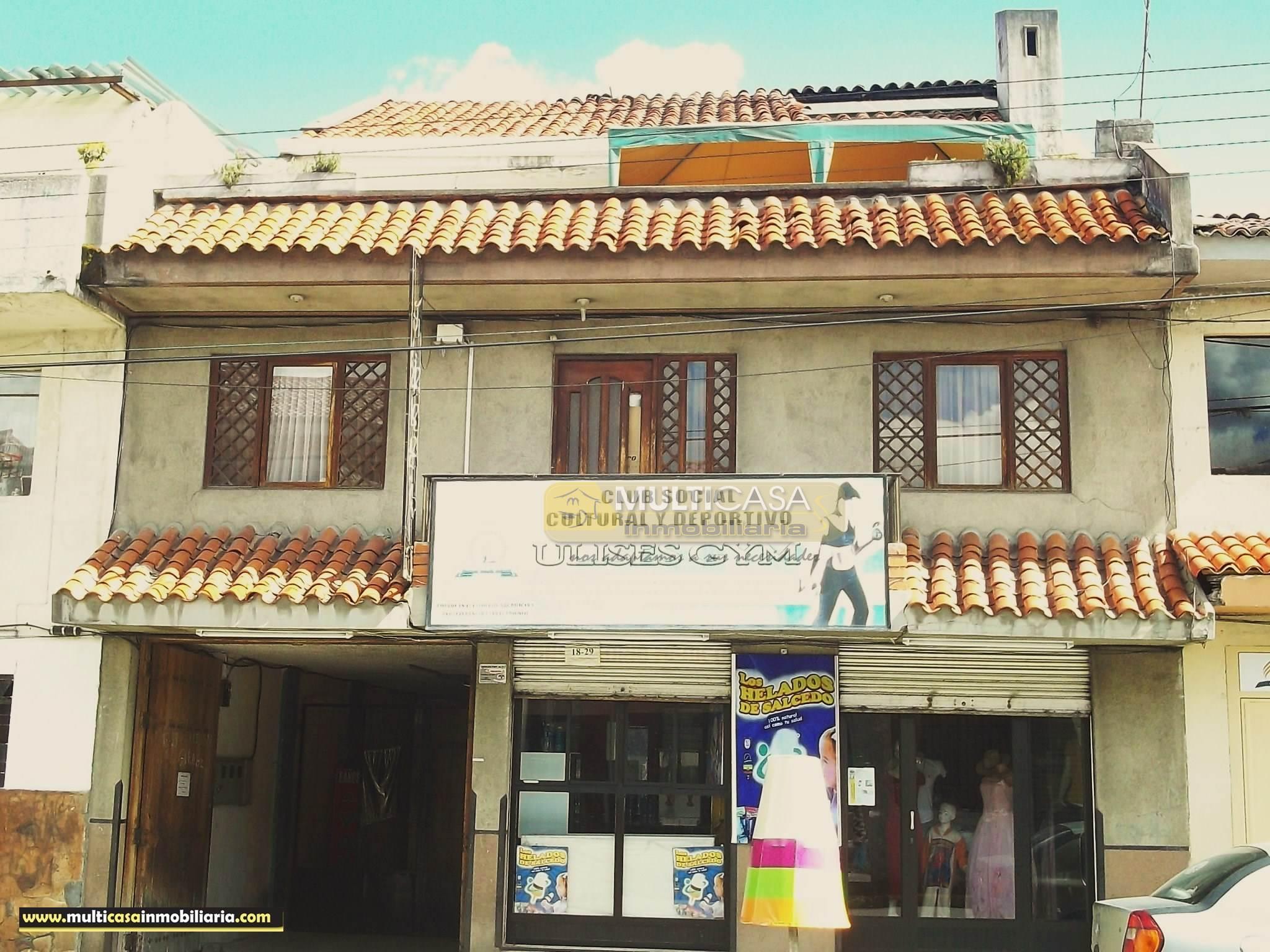Venta de Hermoso Casa Amplia a crédito sector Centro de la Ciudad Cuenca - Ecuador
