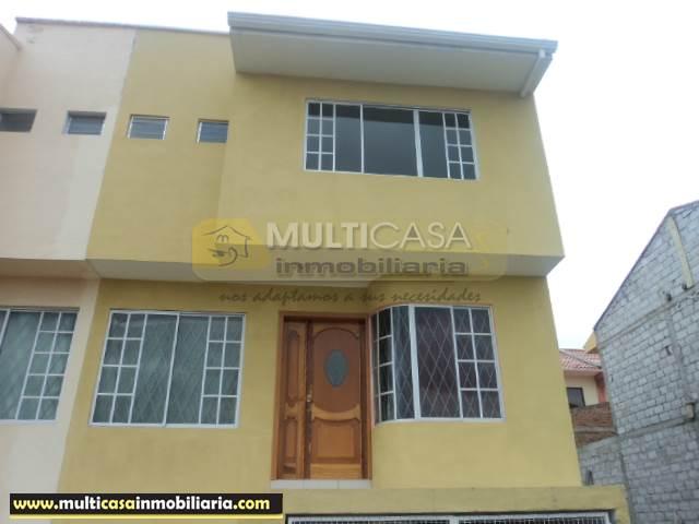 Venta de Hermosa Casa a crédito sector Ricaurte Cuenca - Ecuador
