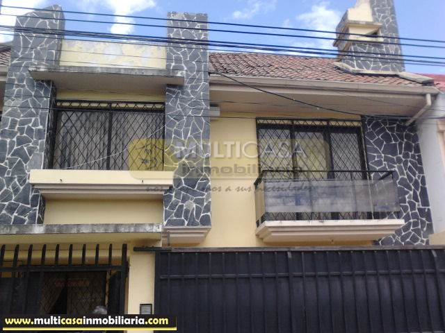 Venta de Hermosa Casa a crédito sector Totoracocha Cuenca-Ecuador <br><br>