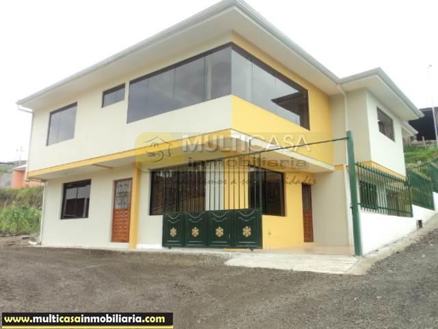 Venta de Hermosa Casa Rentera por estrenar a crédito sector Turi Cuenca-Ecuador <br><br>