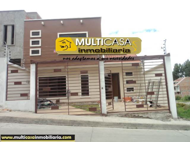 Villa en Venta a Crédito por estrenar sector Ciudadela de Médicos Cuenca-Ecuador