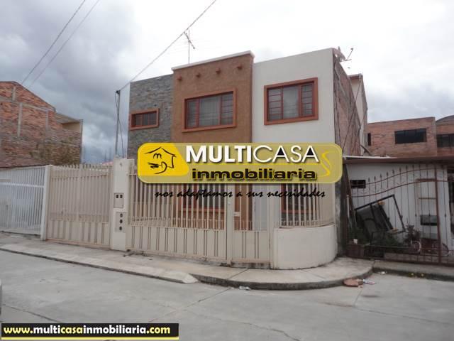 Venta de Hermosa Casa a crédito sector El Cebollar Cuenca-Ecuador <br><br>