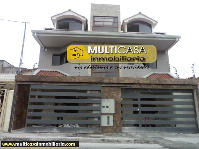 Casa Rentera en Venta de cinco departamentos Sector Totoracocha Cuenca-Ecuador