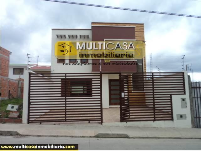 Venta de Hermosa Casa a crédito sector Nuevo Mall de Racar Cuenca-Ecuador <br><br>