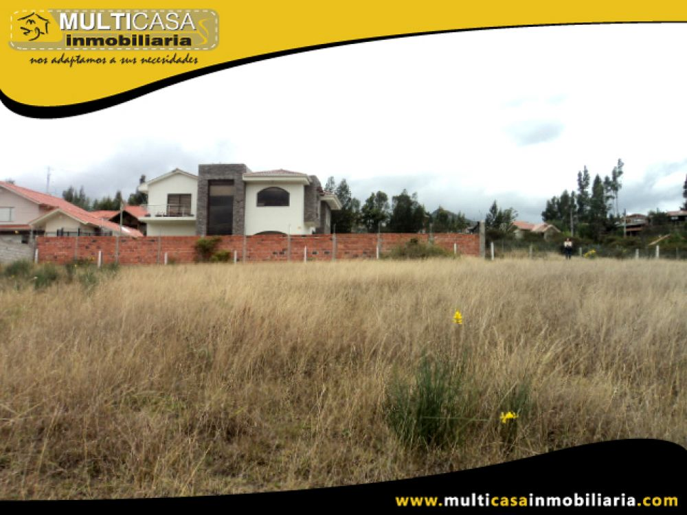 Venta a Crédito de hermoso terreno plano sector Autopista-Challuabamba Cuenca- Ecuador