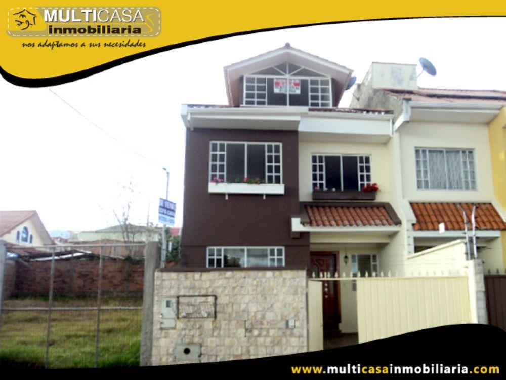 Venta de Hermosa Casa con excelentes acabados a crédito sector El Cebollar Cuenca-Ecuador