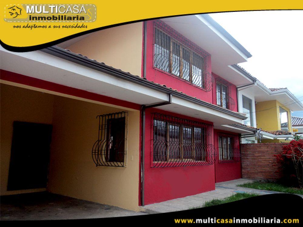 Casa Comercial en Arriendo Calle Aurelio Aguilar y Av. Solano  Cuenca-Ecuador