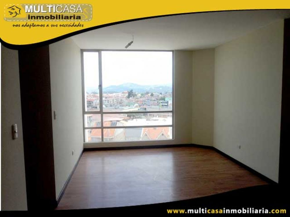 Venta a crédito de Hermoso Departamento en 8vo piso con excelente vista sector Control Sur Cuenca - Ecuador