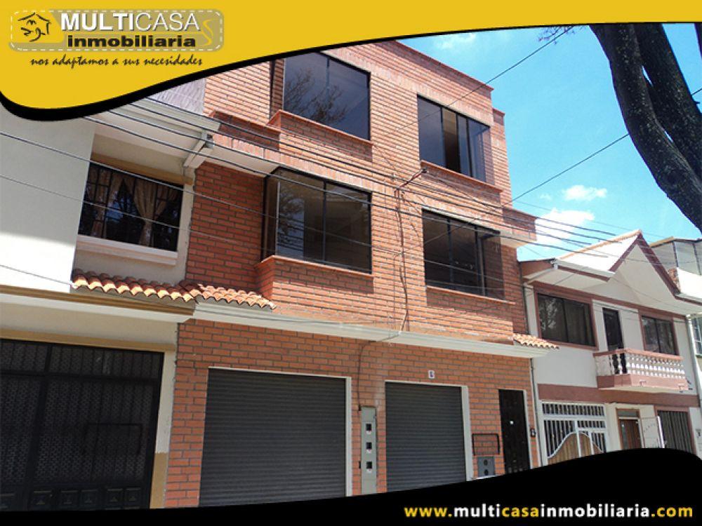 Venta a crédito Hermosa casa Comercial sector Empresa Eléctrica Cuenca - Ecuador