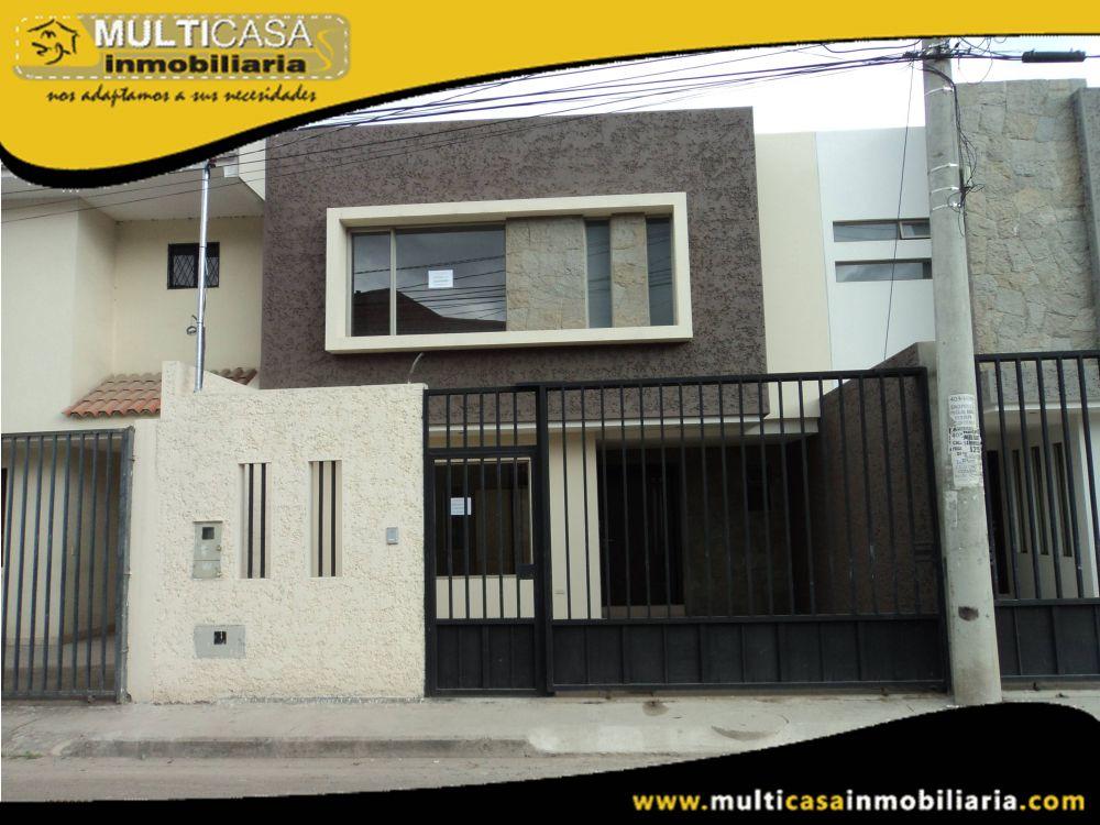 Arriendo Casa acogedora de dos pisos Sector Colegio Borja Cuenca-Ecuador
