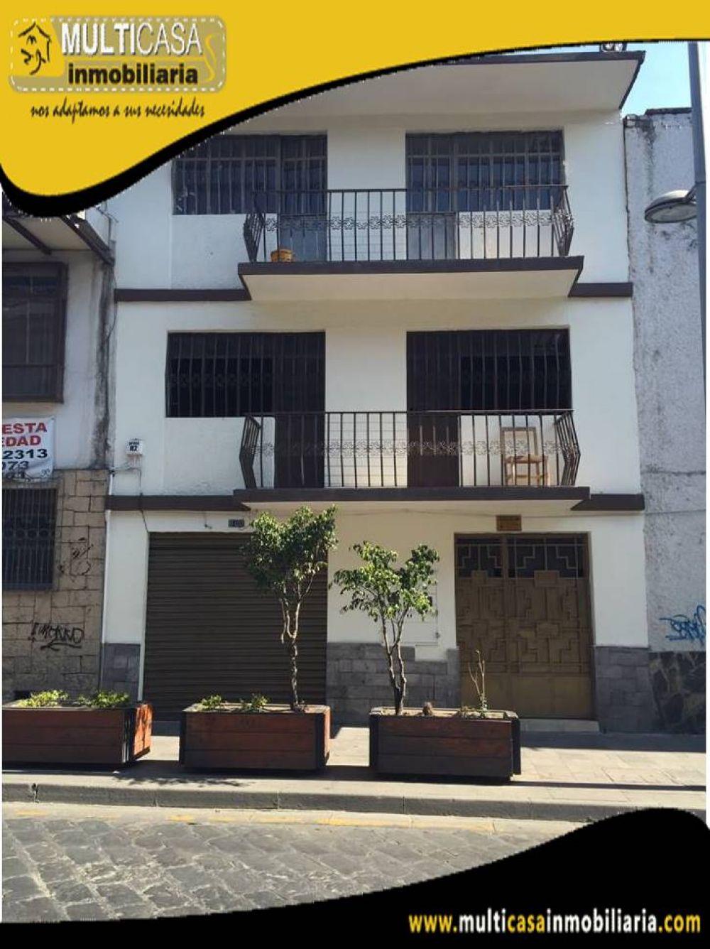 Arriendo Hermosa Casa Comercial de dos plantas ubicada en el Sector Calle Larga frente al Hotel Victoria Cuenca-Ecuador