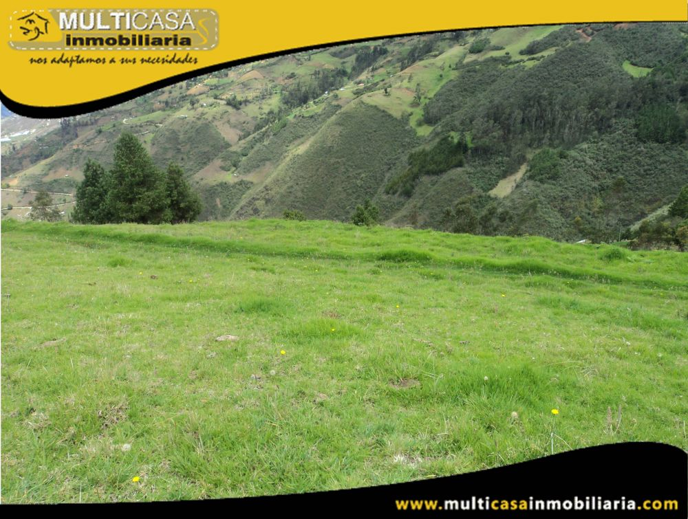 Venta de hermoso Terreno de 4,5 hectáreas a crédito Sector Tambillo Paute-Ecuador