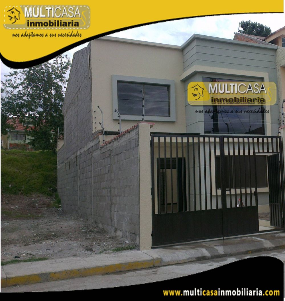 Venta de hermosa casa por estrenar a Crédito sector Ciudadela la Católica Cuenca - Ecuador