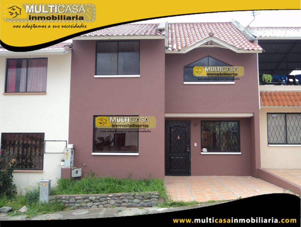 Venta de Hermosa casa en Ciudadela Privada a crédito Sector El Valle Cuenca-Ecuador