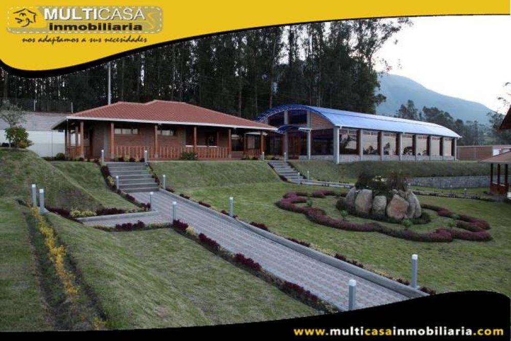 Hostería en Venta a Crédito Amoblada Sector San Luis de Caranqui  Ibarra-Ecuador