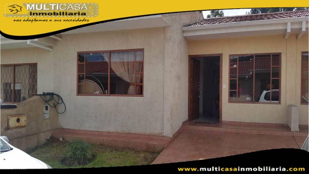 Venta de Hermosa Casa de un Piso a credito en Urbanizacion Privada Sector El Valle Cuenca-Ecuador