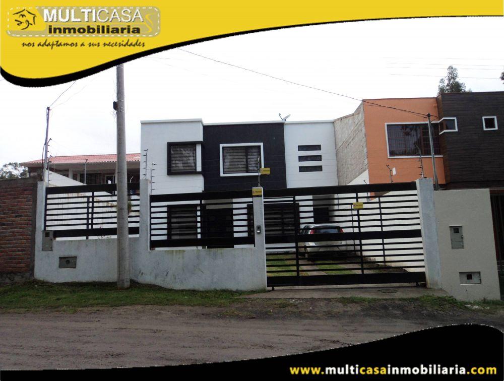 Casa en Venta a Crédito con espacio verde Sector Monay Cuenca-Ecuador