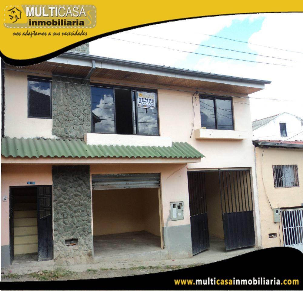 Venta de Hermosa Casa a crédito con un Local Comercial Sector Miraflores Cuenca-Ecuador