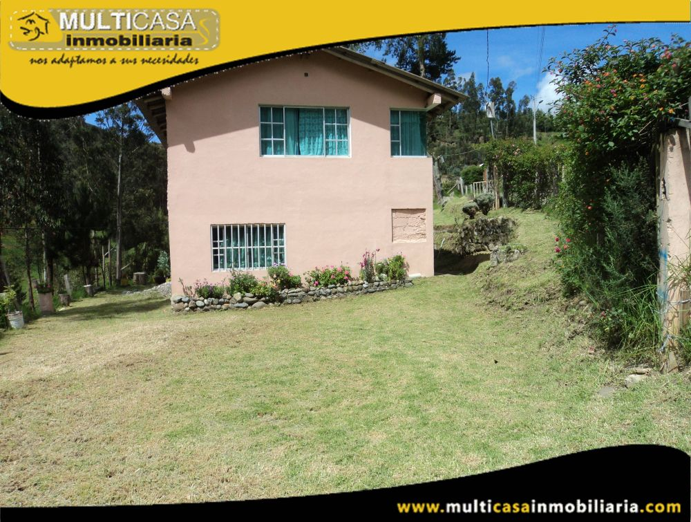 Venta de Hermosa Quinta Vacacional con grande espacio verde a crédito Sector Turi Cuenca-Ecuador
