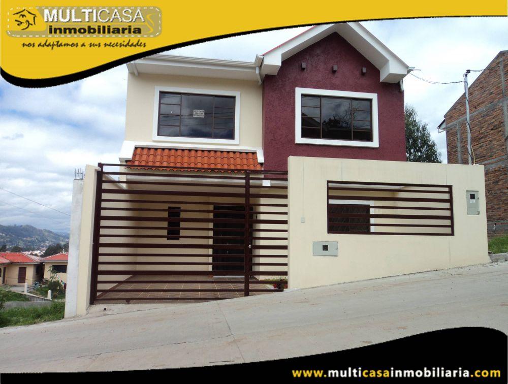 Venta de hermosa casa a Crédito por estrenar con un local comercial  Sector Racar Cuenca-Ecuador