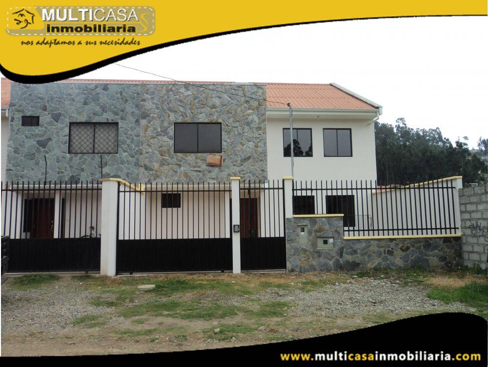 Casa en Venta a Crédito por estrenar Sector Colegio Borja Cuenca-Ecuador