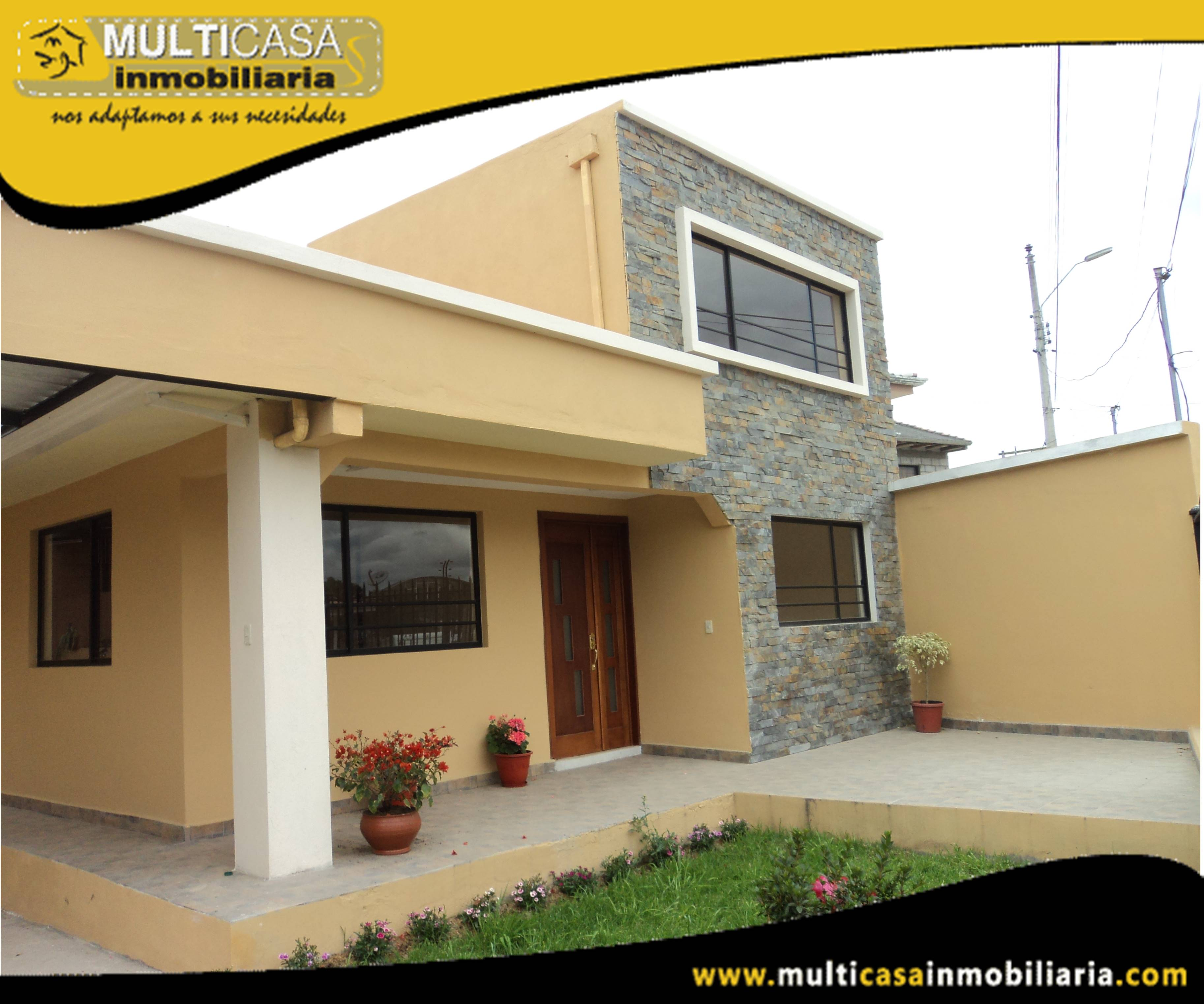 Venta de Dos casas en Una por estrenar a Crédito con garaje para tres vehiculos Sector Baños Cuenca-Ecuador