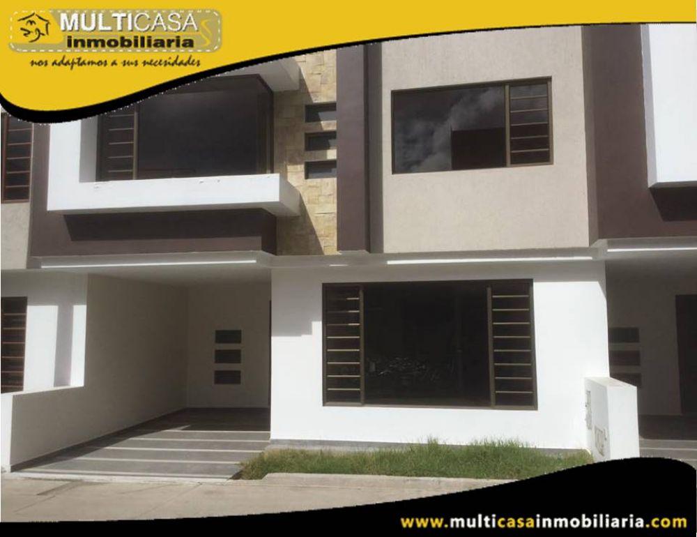 Venta de Hermosa casa a crédito por estrenar en Condominio con espacio Verde Sector Ricaurte Cuenca-Ecuador
