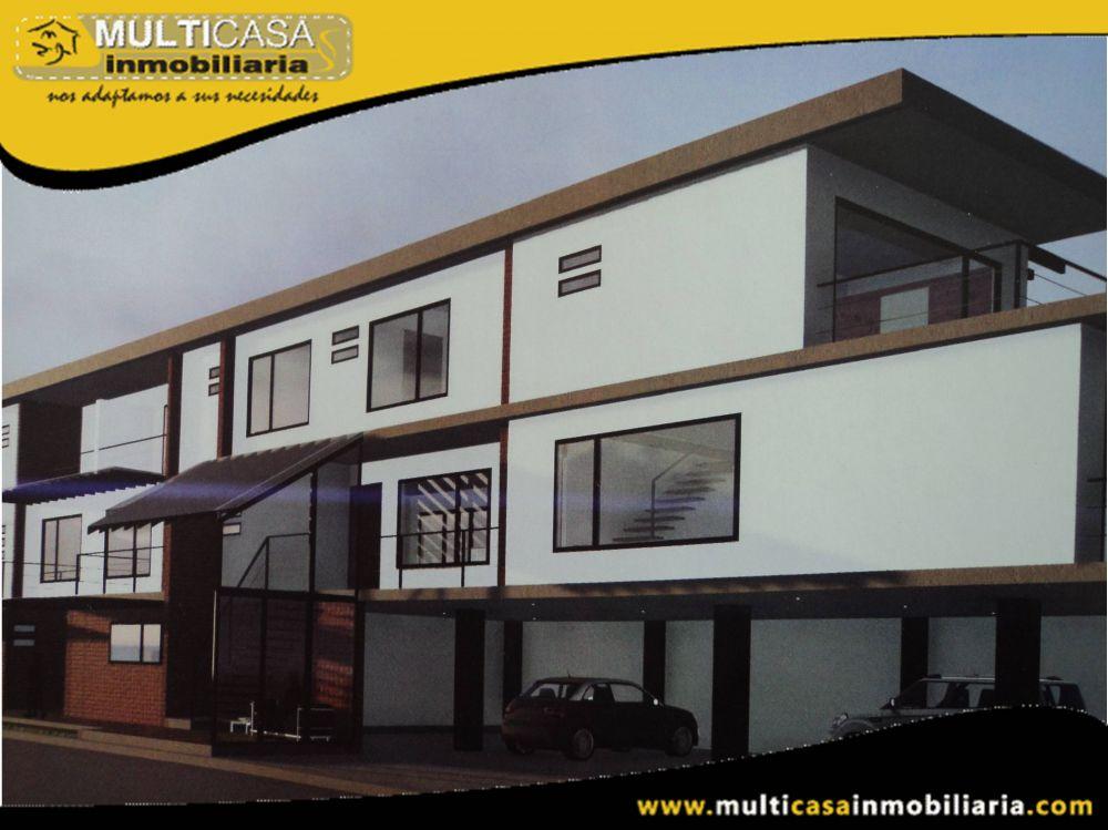 Venta de Hermosa casa a Crédito en Condominio por estrenar de tres plantas Sector Don Bosco Cuenca-Ecuador