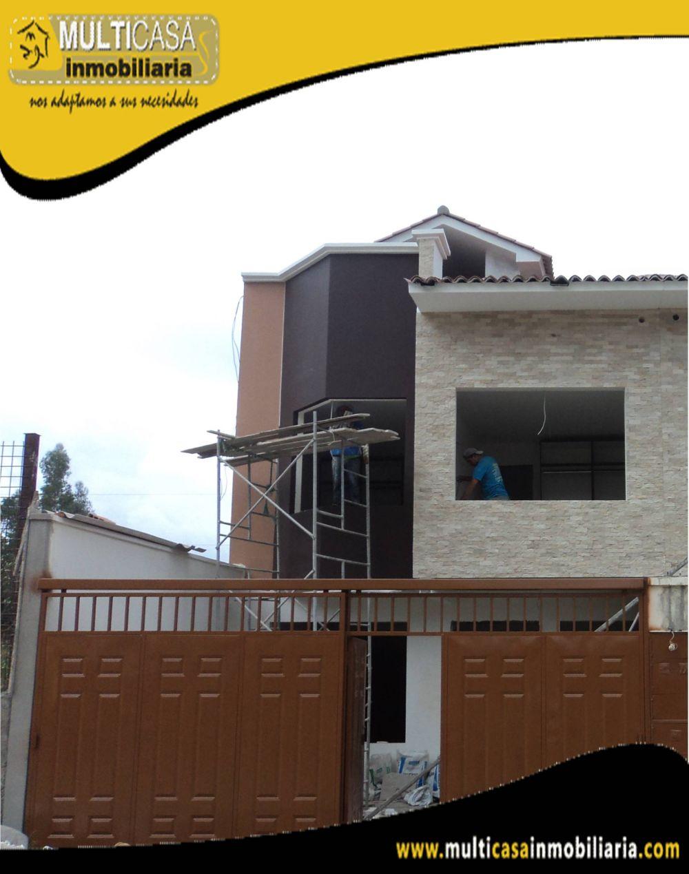 Venta de Hermosa casa a credito con garaje para dos vehículos sector Av.Ordoñez Lasso Cuenca-Ecuador