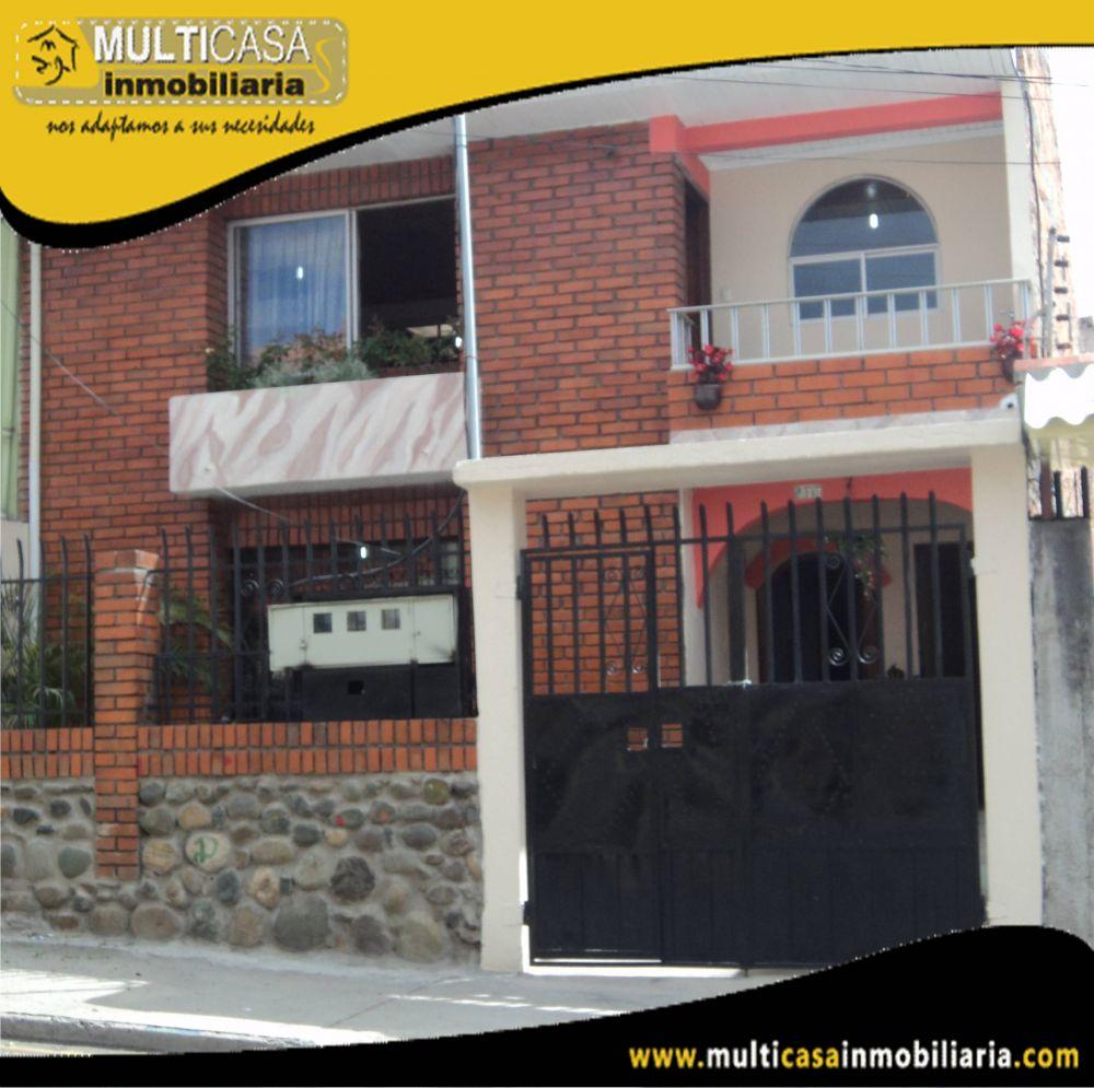 Venta de Hermosa Casa a credito con Cuatro Departamentos  y garaje para dos vehículos Sector Gonzalez Suarez Cuenca-Ecuador