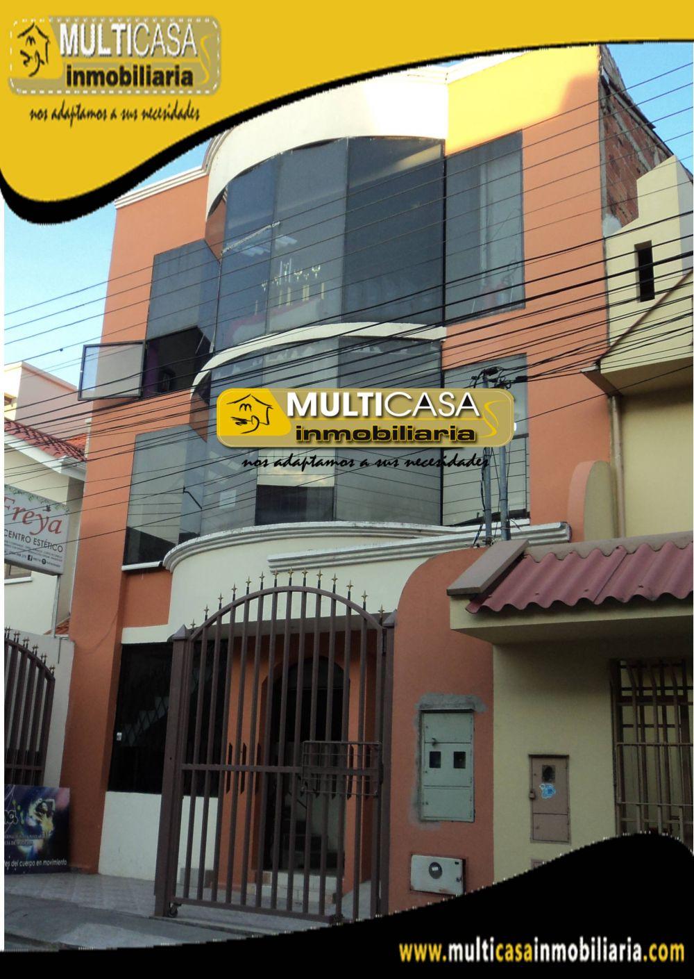 Venta de Hermosa Casa a Crédito de dos departamentos y un local comercial con garaje para tres vehiculos Sector Av.Gonzales Suarez Cuenca-Ecuador