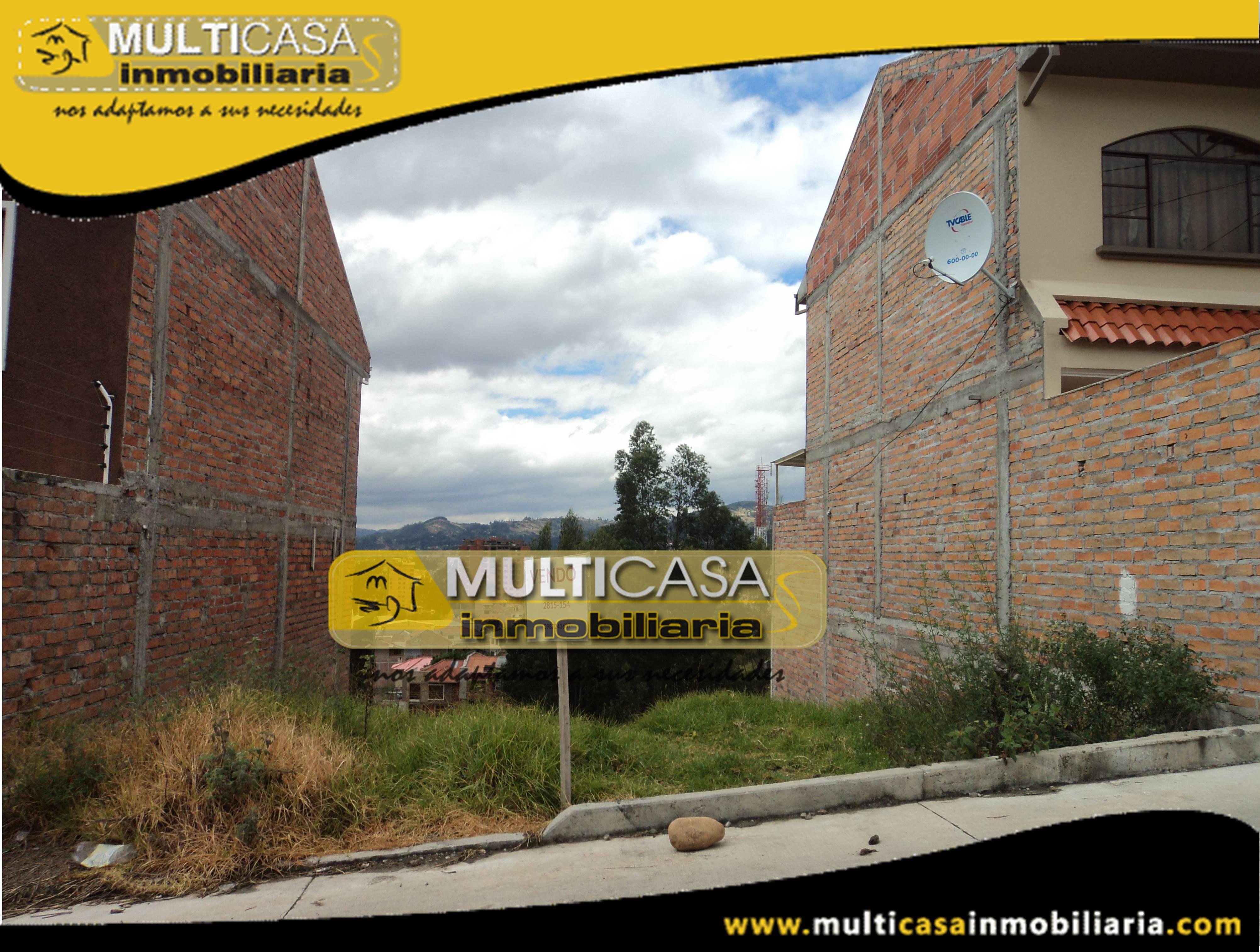 Terreno en Venta a credito de oportunidad Sector El Tejar Cuenca-Ecuador