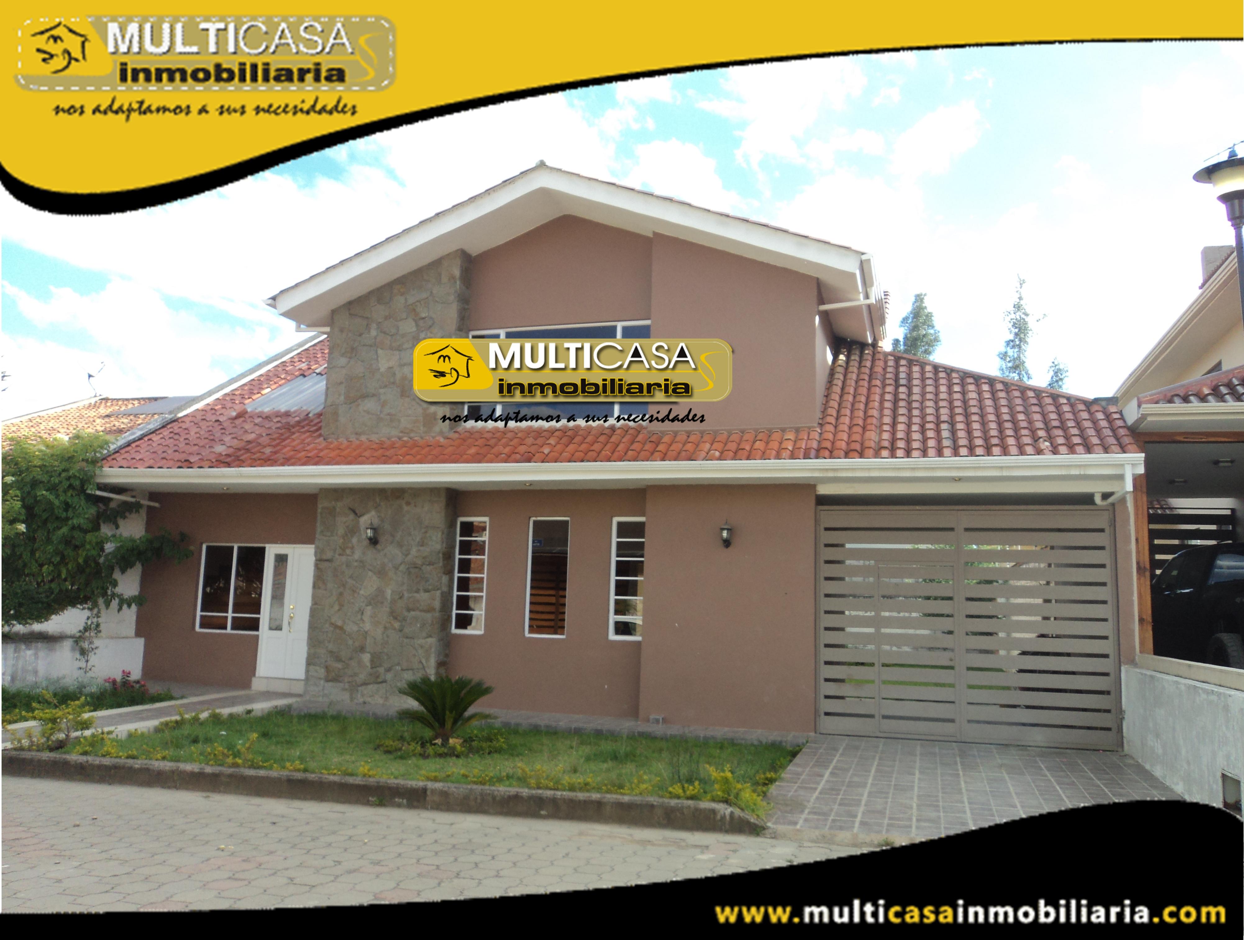 Casa en Venta de Lujo a Crédito Sector Ordoñez Lasso Cuenca-Ecuador