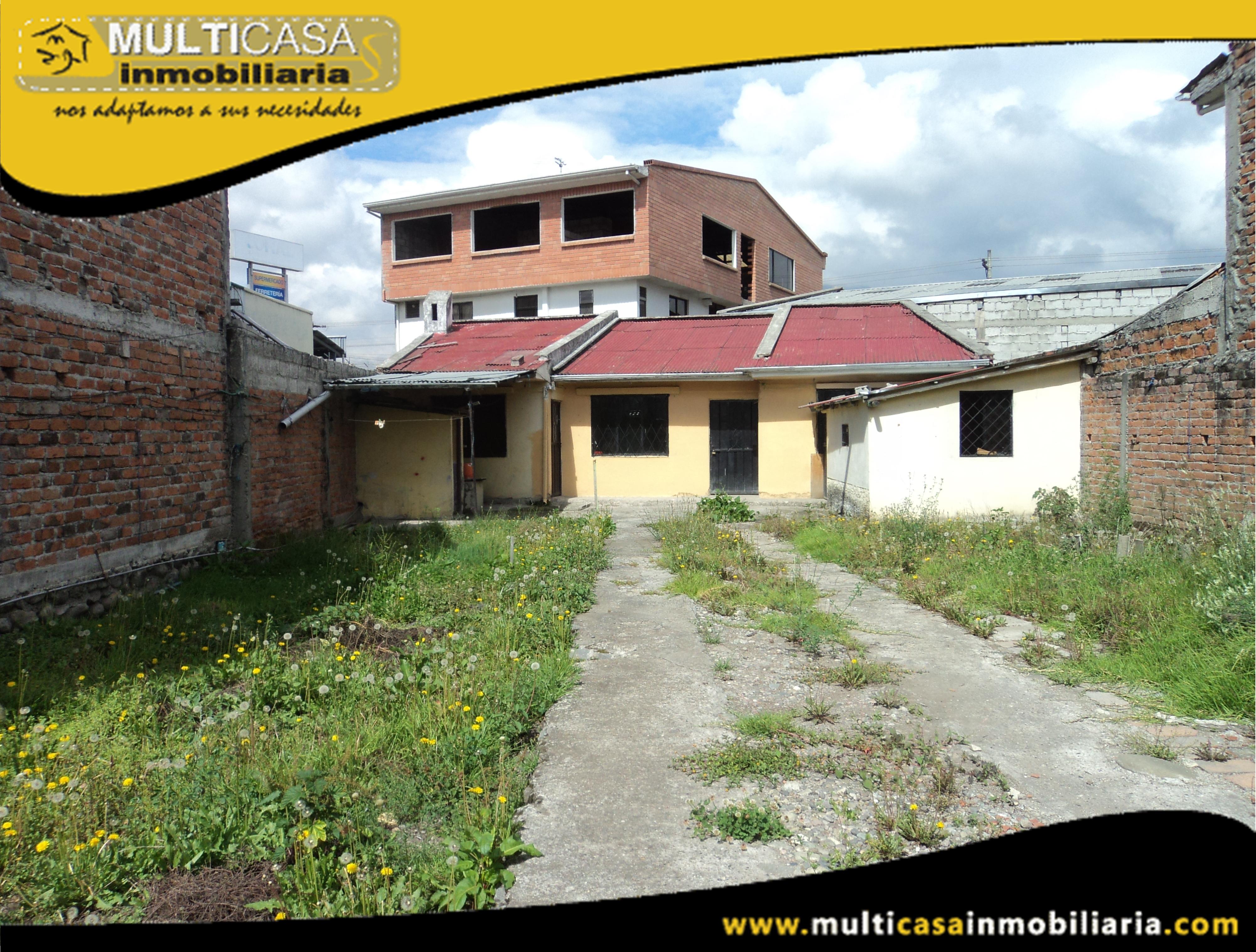 Sitio con Casa en Venta a Crédito Sector Coral Centro Cuenca-Ecuador