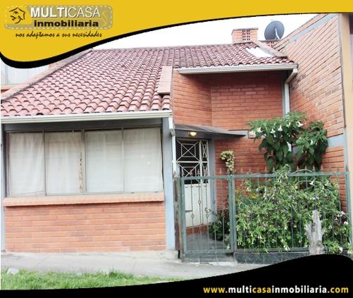 Casa en Venta a Crédito en Condominio Sector Ave. Los Cerezos Cuenca-Ecuador (Falta Acabados)