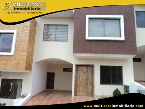 Casa en Venta a Crédito en Condominio Privado Sector Racar Cuenca-Ecuador