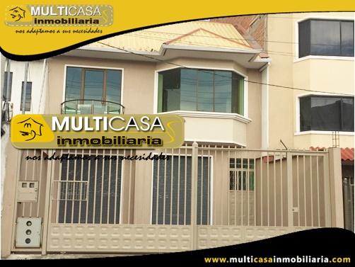 Casa en Venta a Crédito con Local Comercial Sector Quinta Chica Cuenca-Ecuador