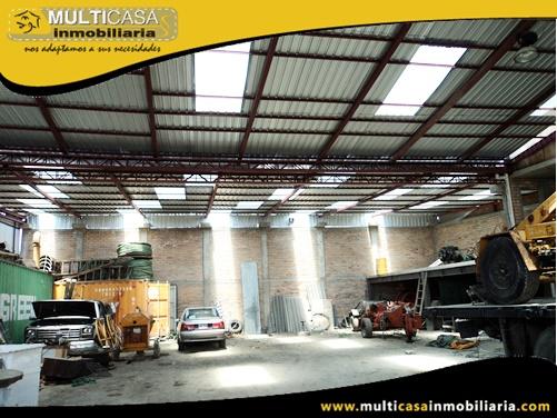 Nave Industrial en Venta a Crédito Sector Totoracocha Cuenca-Ecuador