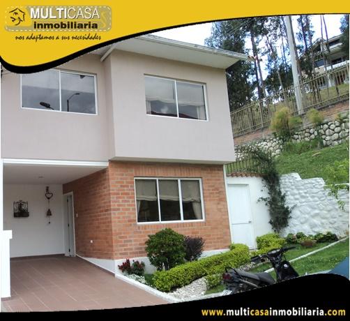 Casa en Venta a Crédito en Condominio Privado Sector Control Sur Cuenca-Ecuador