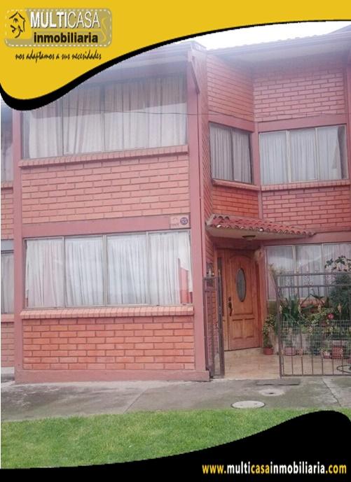 Casa en Venta a Crédito en Ciudadela Privada Sector los Cerezos Cuenca - Ecuador