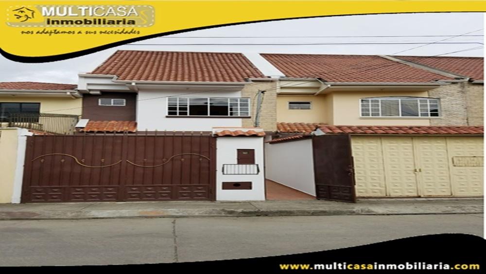 Arriendo Casa Sector Ciudadela Simón Bolivar Cuenca-Ecuador