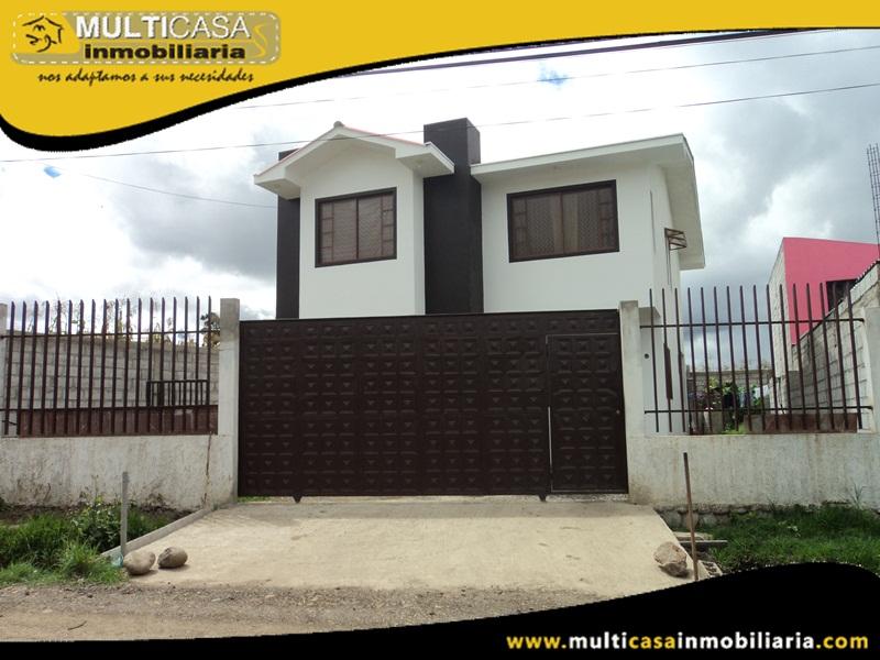 Casa en Venta a Crédito Sector Ochoa León  Cuenca - Ecuador