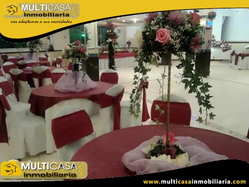 Salón de Eventos de Venta a Crédito Sector Ricaurte Cuenca-Ecuador