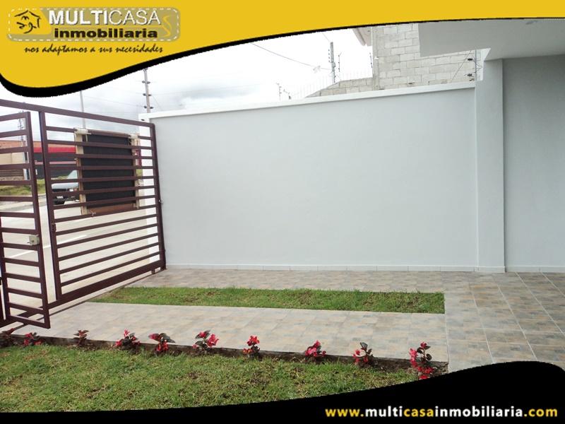 Casa en Venta a Crédito con Cuatro Dormitorios Sector Racar Cuenca -Ecuador