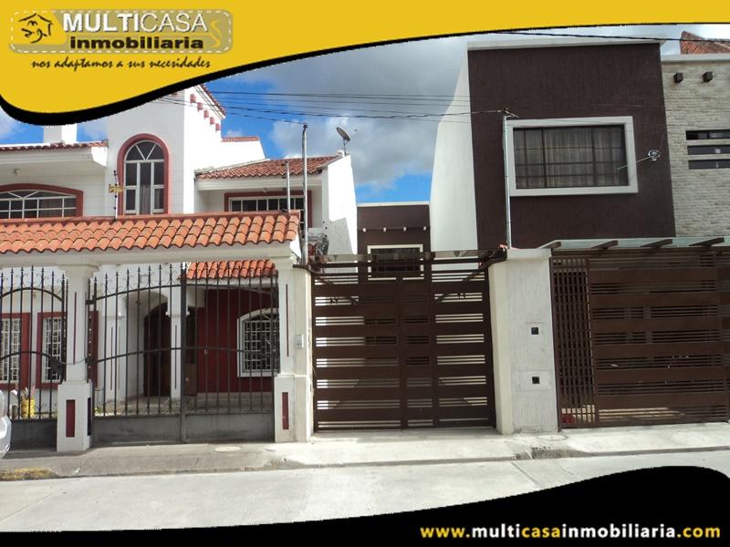 Casa en Venta a Crédito Sector Juan Pablo II Cuenca- Ecuador
