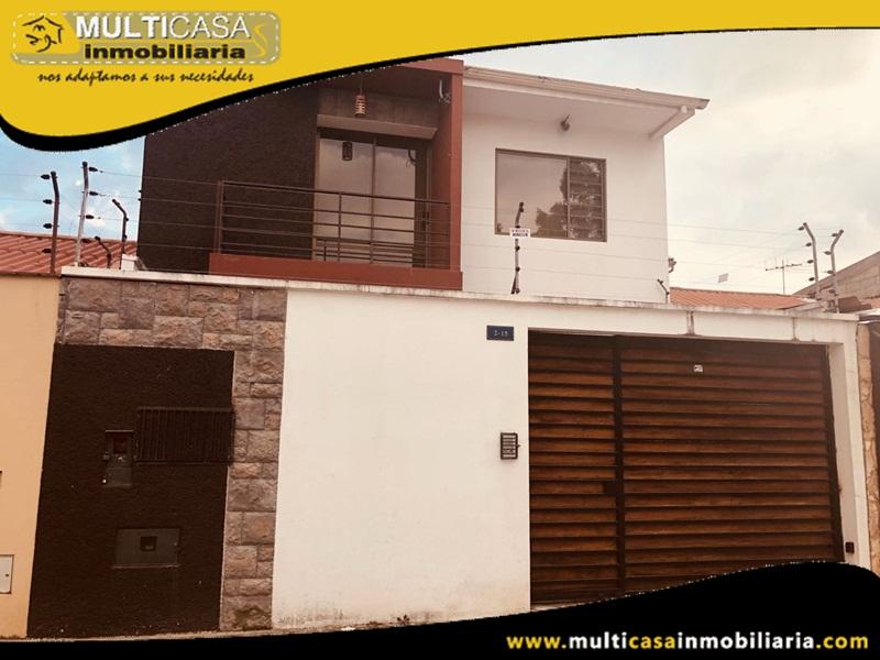 Casa Amoblada en Venta a Crédito Sector Seguro Social Cuenca-Ecuador