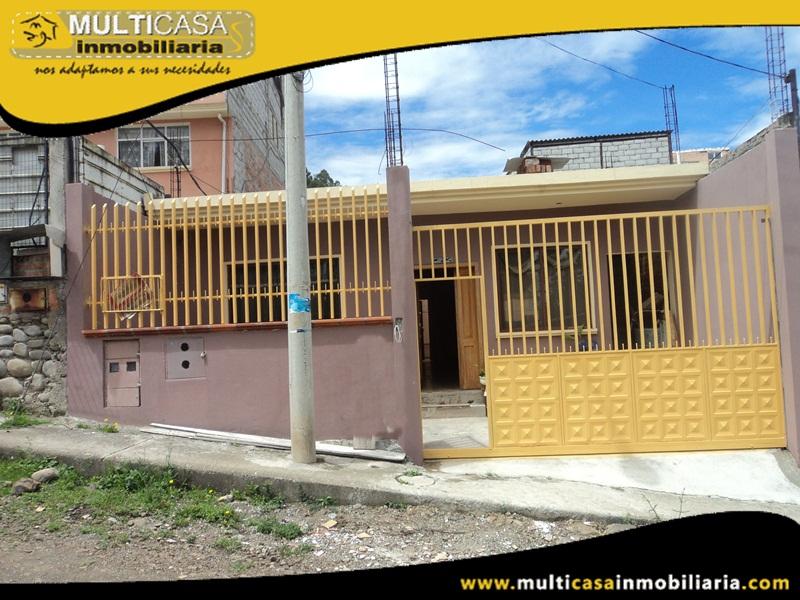 Casa en Venta a Crédito Sector Las Orquídeas Cuenca - Ecuador