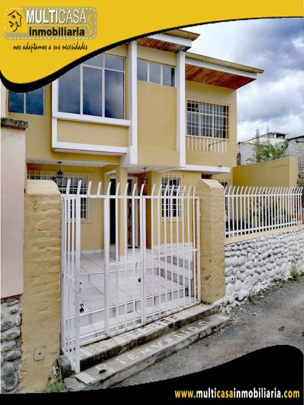Casa en Venta a Crédito Sector Totoracocha Cuenca - Ecuador